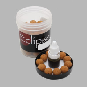 Iconic frankfurter popups with booster liquid eclipse baits